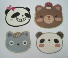 Different Animal,bear,cat,panda Shaped card