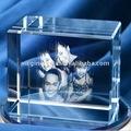 Cristal láser 3D grabado regalos cubo / Souvenir