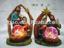 religious snow globe