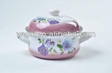 671YD Belly Shape Porcelain Enamel Cookware Enamel Casserole 16-24cm