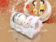 lovely rabbit toy towel cake for wedding favor