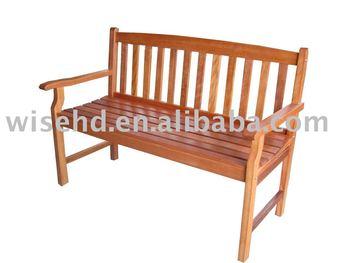 (W-B-1450) eucalyptus wood bench