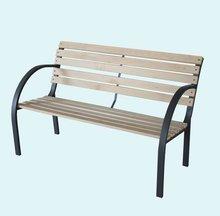 plastic wood top aluminum frame garden bench