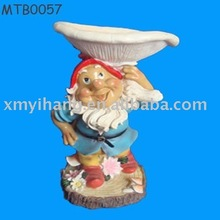 High grade gnome decorated Ceramic Pet Bowls