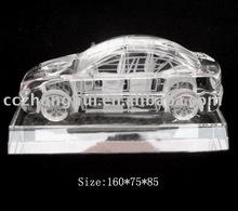 Bright in color crystal car model