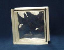 Cloudy glass block