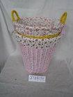 Special full handmade waste paper basket