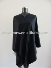plain black acrylic shawl,plain acrylic stole,plain pashmina shawl