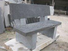 gray limestone garden benches-002