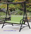 veranda pe rattan salıncak Bahçe alüminyum koltuğu açıkiçin