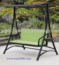 patio garden aluminum pe rattan swing chair for outdoor
