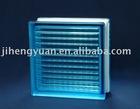 Parallel blue glass block