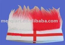 Football headband wigs for England soccer fans wig