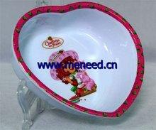 melamine heart sharp kid's bowl
