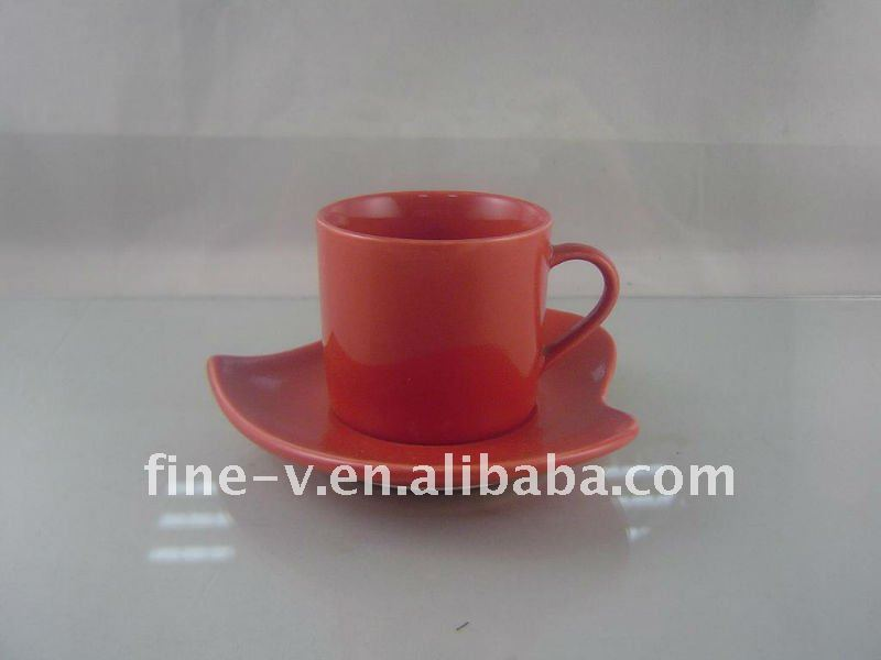 Ceramic Cups Designs Ceramic Red Cup And Saucer