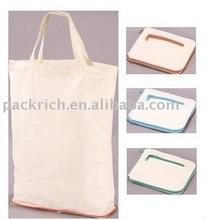Zipped folding Canvas tote bag