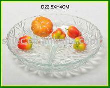 three box round shape high white glass glass plate