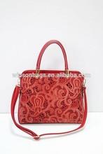 chinese stylish paper-cut printed handbag hollow out ladies handbag XC1462