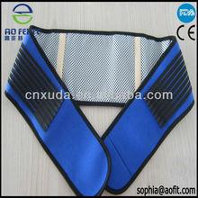 tourmaline mangnetic back support belt blue color