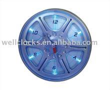 Wheel Rim Wall Clock With LED lights