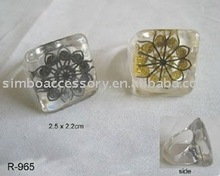 fashion resin/acrylic/lucite/plastic jewelry ring