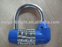 Combination lock,metal 4-digit code padlock
