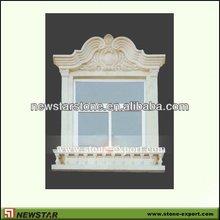 beige marble Window frames