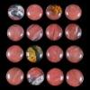 C200 Volcano Cherry Quartz Round Cabochon semi-precious gemstone