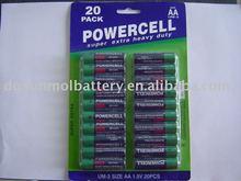 R06 um3 aa size super power battery