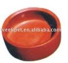 Red Ceramic Dog Bowl