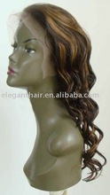 """20"""" water wave human hair full lace wig"""