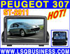 Car dvd player for peugeot 307 with GPS, bouetooth, RDS, FM, TV, steering wheel control and other functions
