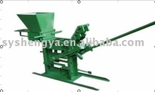 QMR2-45/QMR1-45 manual clay or soil+cement brick making machine--No power needed