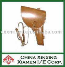 military leather gun holster