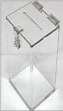 acrylic cube/donation/suggestion box