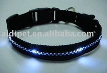 nylon LED illuminated super bright pet dog collar