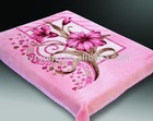 100%polyester blanket two side printed