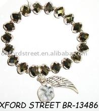 wing charm bracelet , bead bracelet , alloy bracelet