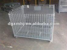 Heavy-duty rigid wire mesh container
