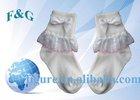 baby girl's lace cotton socks/80% cotton and 15 nylon,5% spandex socks