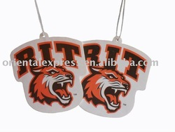 HOT tiger car air freshener,hanging car air freshener,animal hanging air freshener