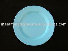 Plain color round melamine dinner plate