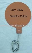 110v,180w Round Silicone rubber heater ceramic heater element