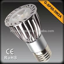 Aluminum 6W led Spotlight 3*2W led bulb