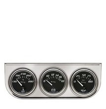 "2"" Chrome Volt Triple Gauge Kit"