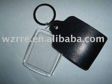 plastic/acrylic/Genuine leather/pu/ photo frame/blank key chain