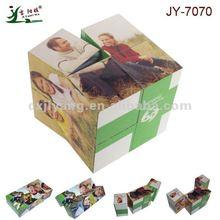 JY7070 PS customized sticker 7cm folding cube