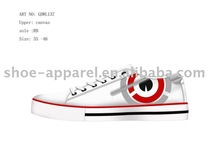 2010 latest canvas casual shoes for ladies