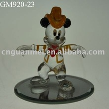 Wholesale Pretty glass Mickey Mouse craft on mirror