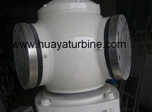 centrifugal blades pitch regulated wind turbine on grid working system 5kw 380v with power one grid tie inverter